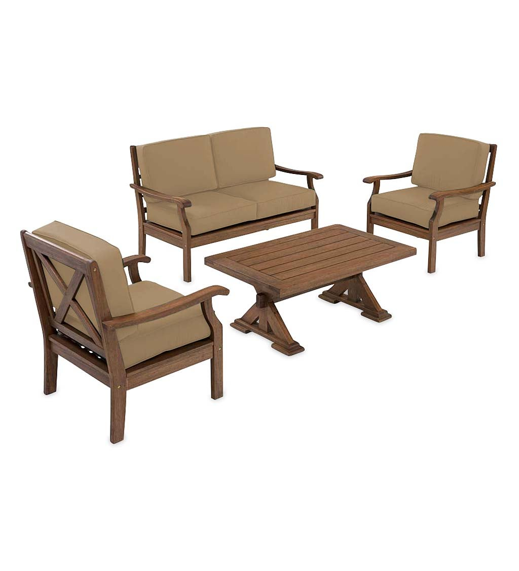 Claremont Deep Seating Love Seat Set with Cushions