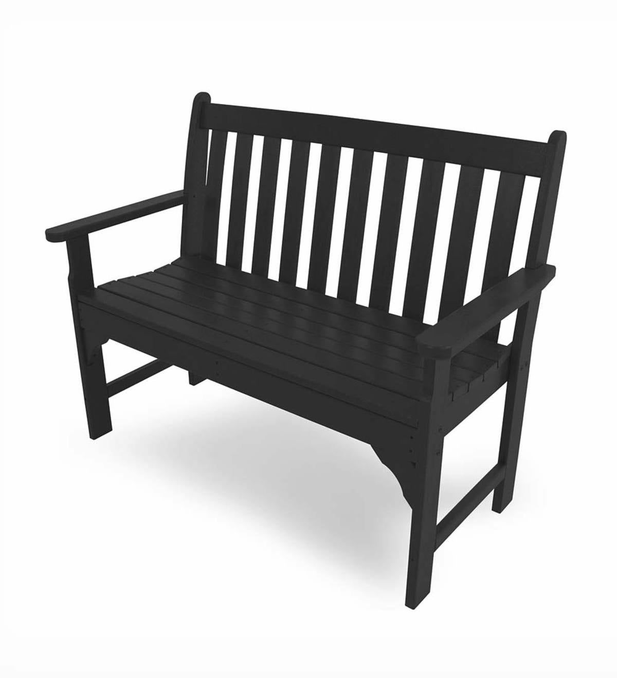 5' Poly-Wood Vineyard Outdoor Bench - Black
