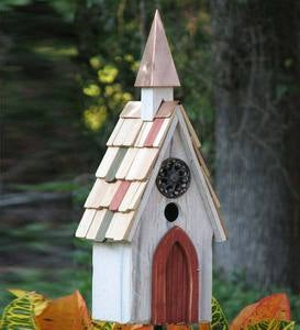Jubilee A-Line Birdhouse with Copper Steeple