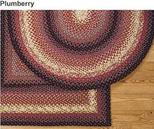 3' x 5' Rectangular Cotton Blend Braided Rug - Plumberry