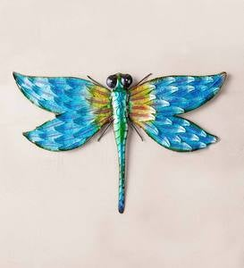 Iridescent Metal Dragonfly Wall Art