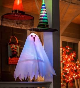 Halloween Ghost Hanging Décor with 3D Chasing Lights
