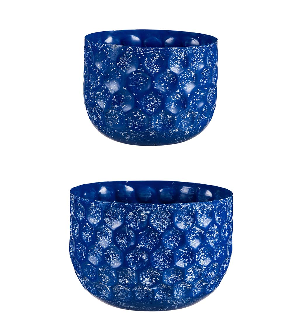 Ocean Waters Embossed Honeycomb Planters, Set of 2 swatch image