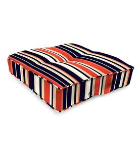 "Sale! Polyester Classic Tufted Floor Cushion With Handle, 20""sq. x 4"""