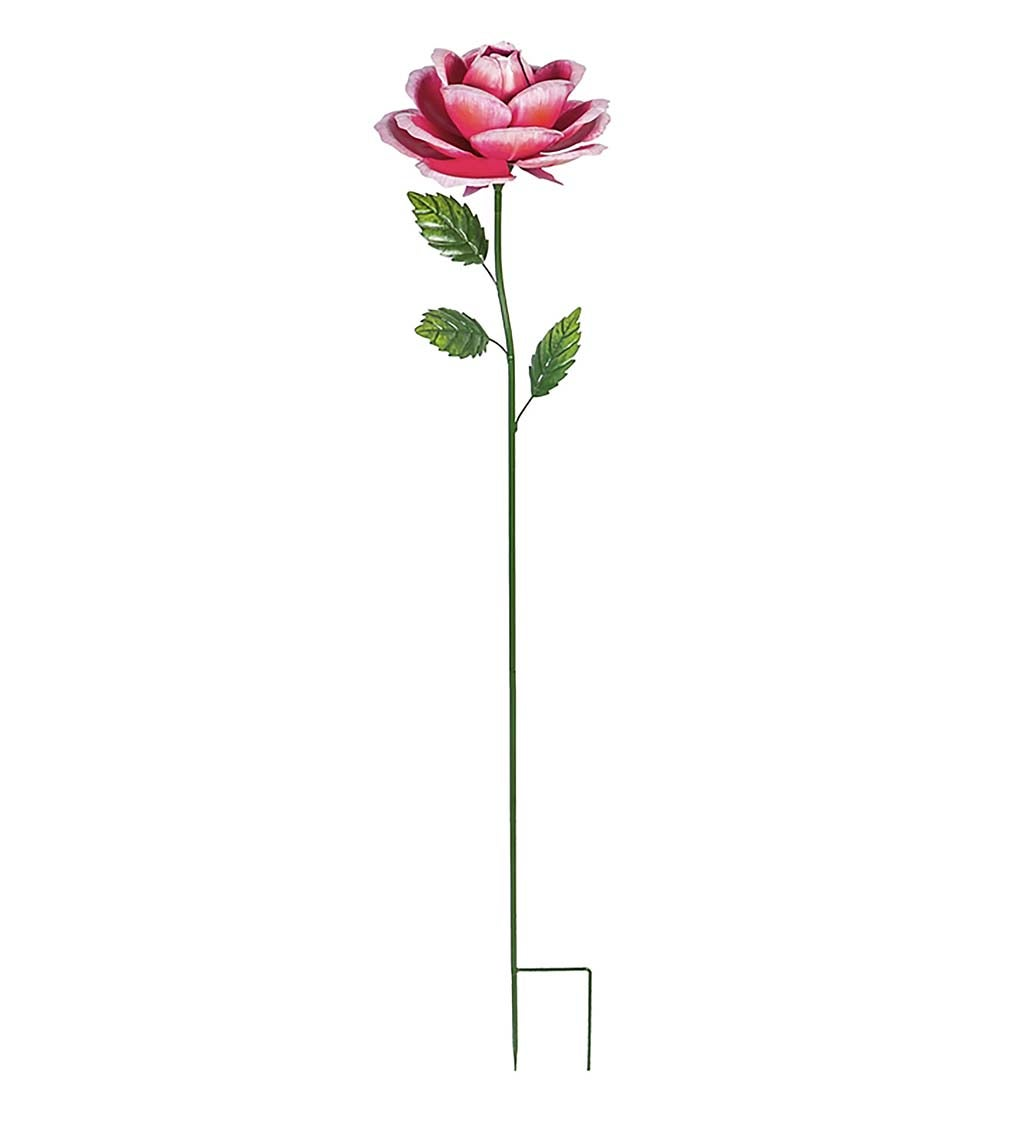 Large Metal Rose Stake
