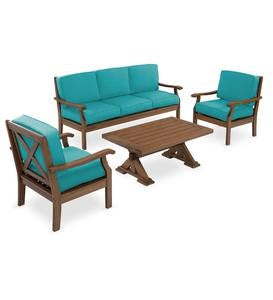 Claremont Seating Collection, Eucalyptus Wood Outdoor Furniture