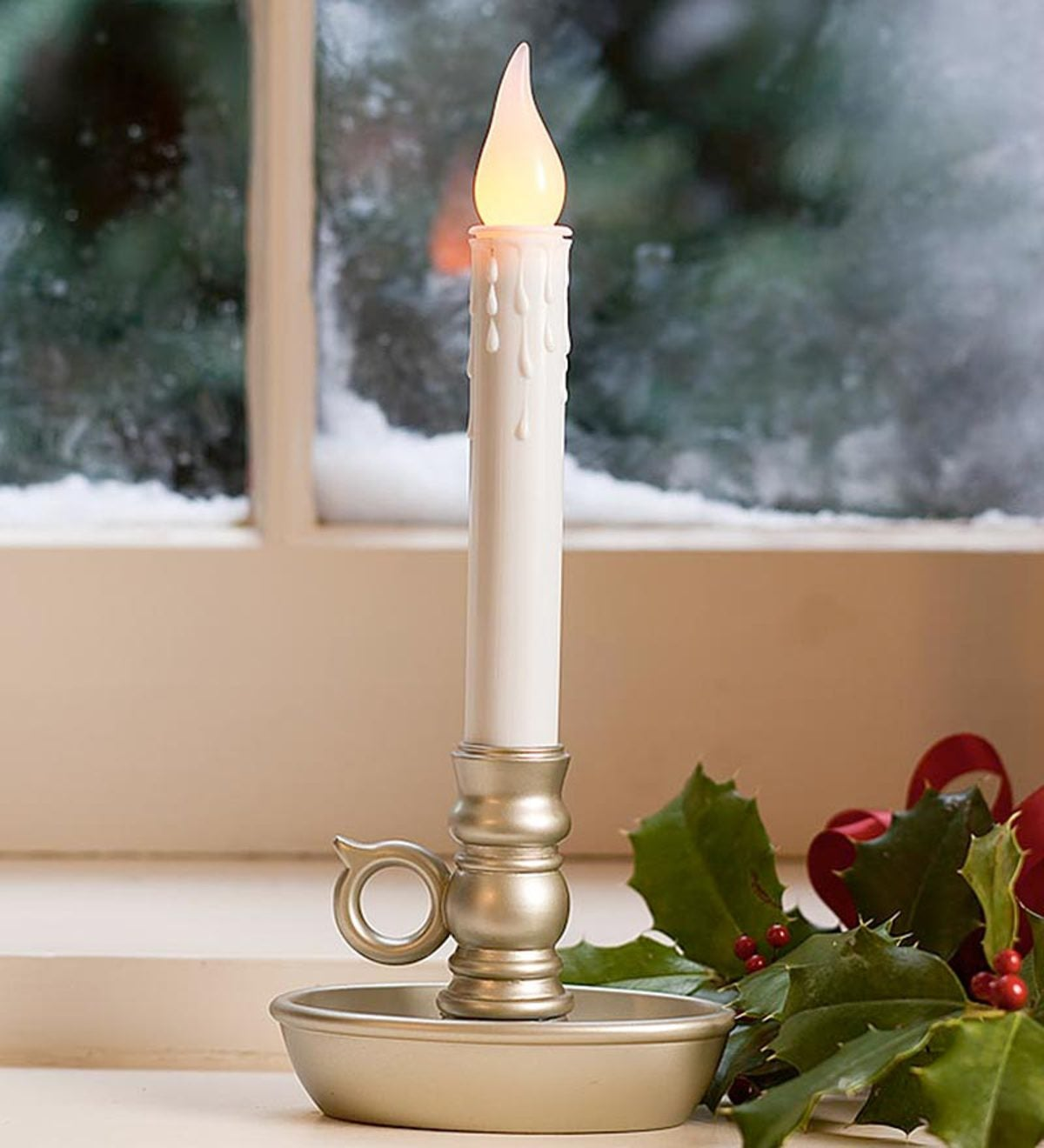 Battery-Operated Single Window LED Window Candles