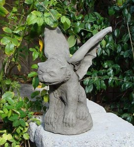 USA-Made Cast Stone Chained Gargoyle