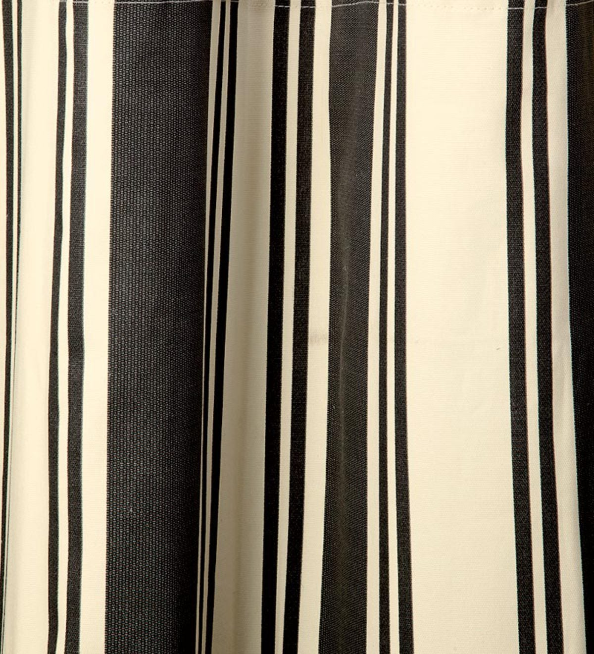 "54""L Wide Stripe Grommet-Top Insulated Curtains - Black"
