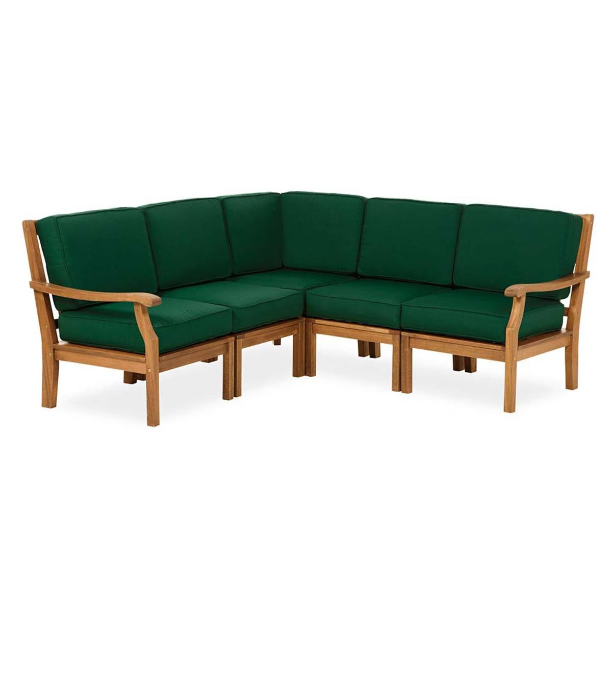 Claremont 6-Piece Sectional with Cushions - Forest Green