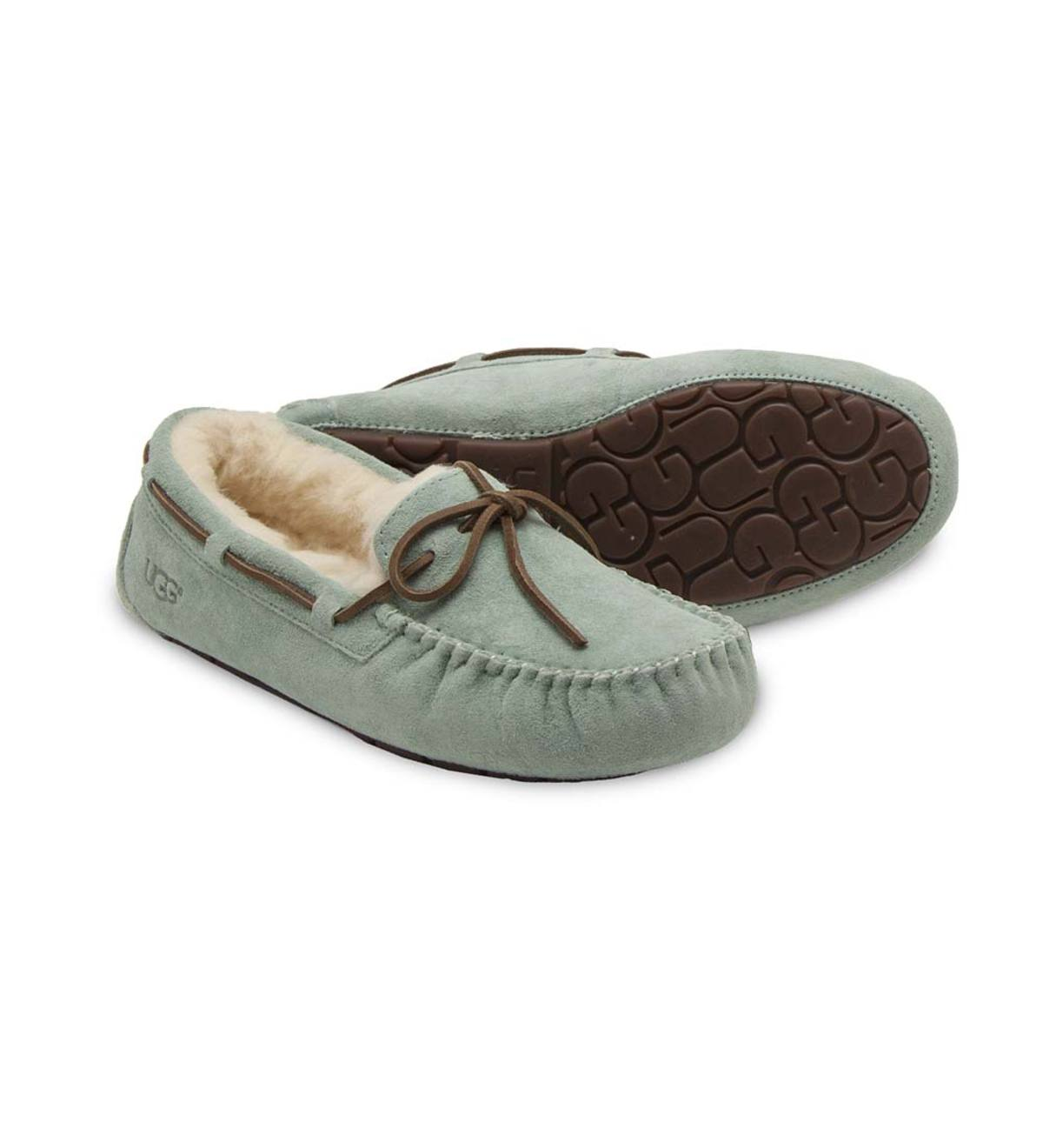 UGG Australia Womens Dakota Moccasin Slippers - Agave - Size 9