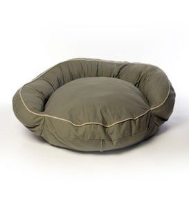 Twill Bolster Pet Bed