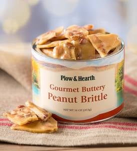 Buttery Peanut Brittle, 16 oz. Resealable Tin