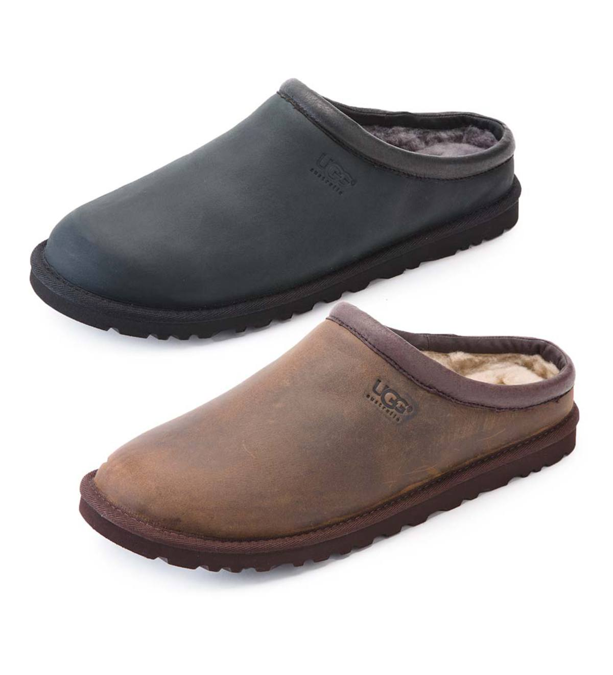 edf8461fdc8 UGG Men's Classic Leather Slide-On Clogs | PlowHearth