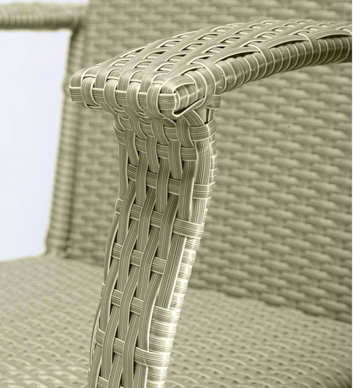 Outdoor Or Indoor Wicker Rocking Chair With Steel Frame