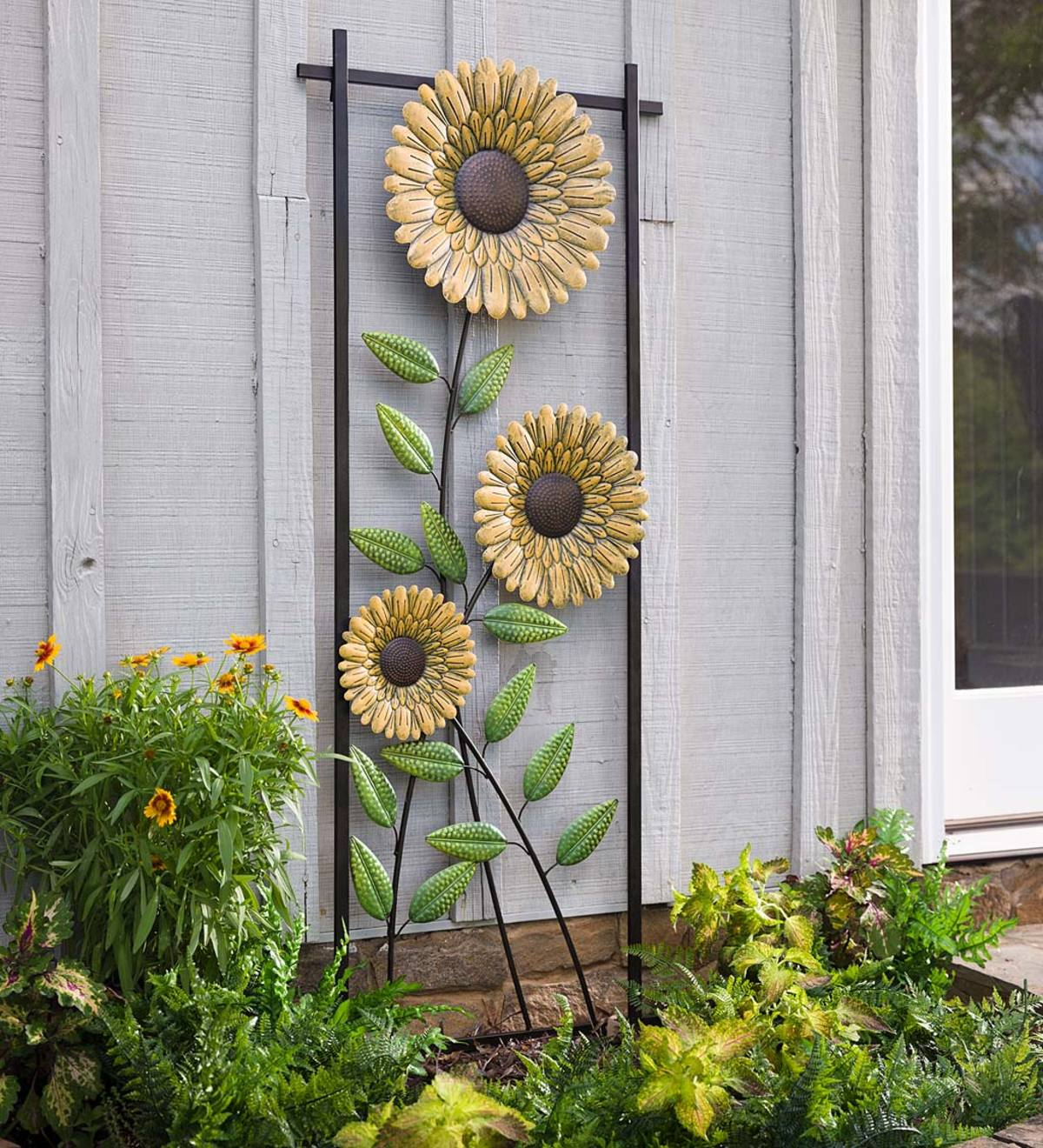 Sunflower Garden Metal Trellis/Wall Art