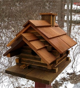 Conestoga Log Cabin Birdhouse, Made in USA