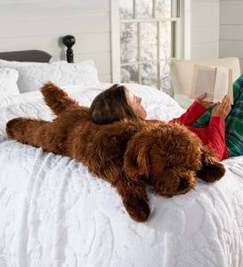 Plush Labradoodle Body Pillow