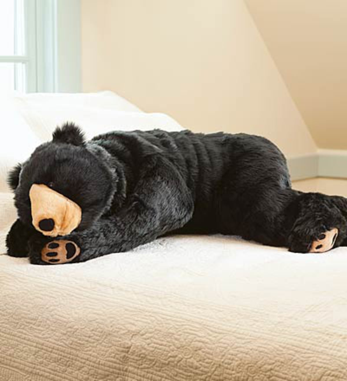 Bear Hug Body Pillow - Black