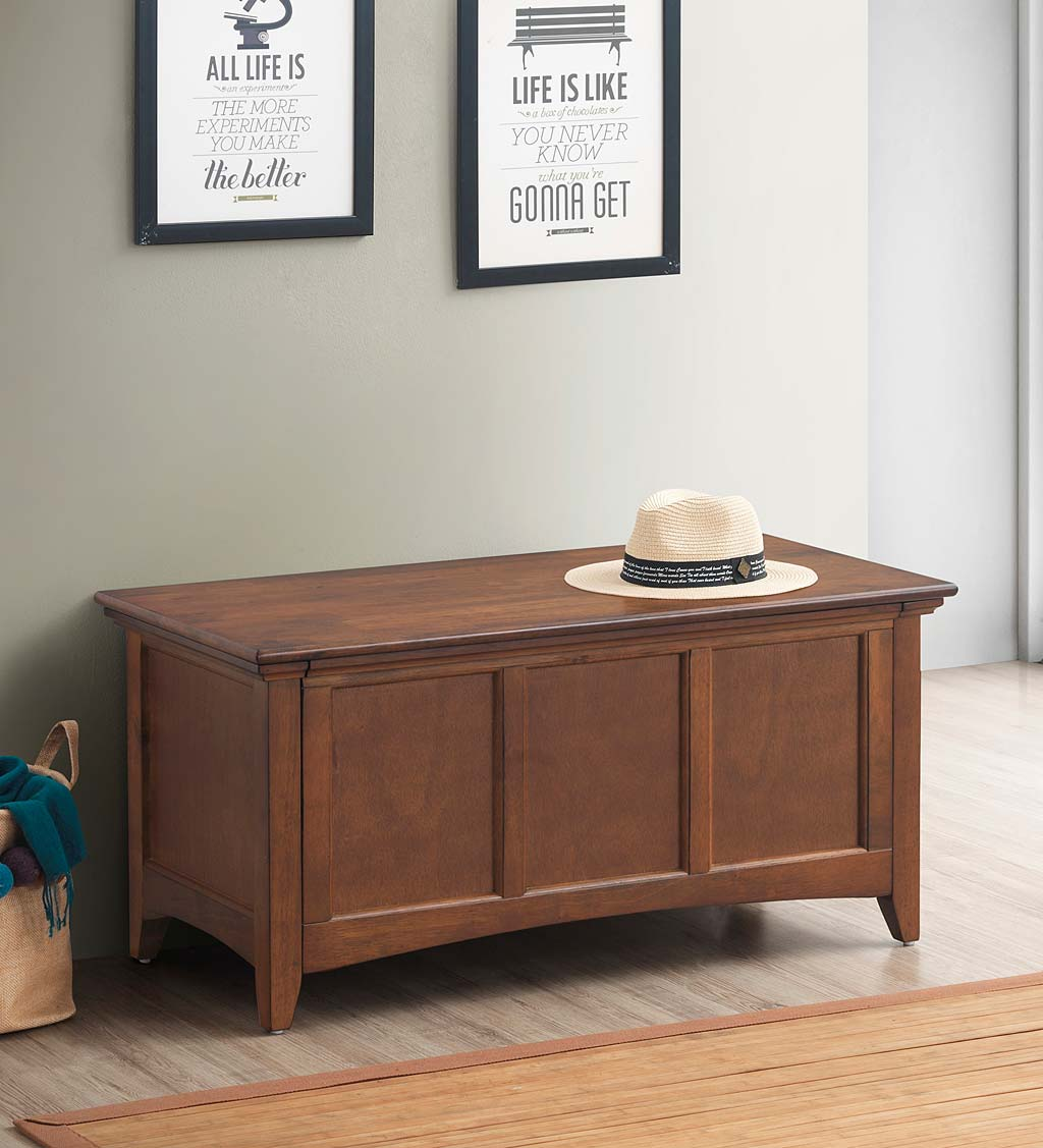 Hinged Paneled Storage Chest/Console