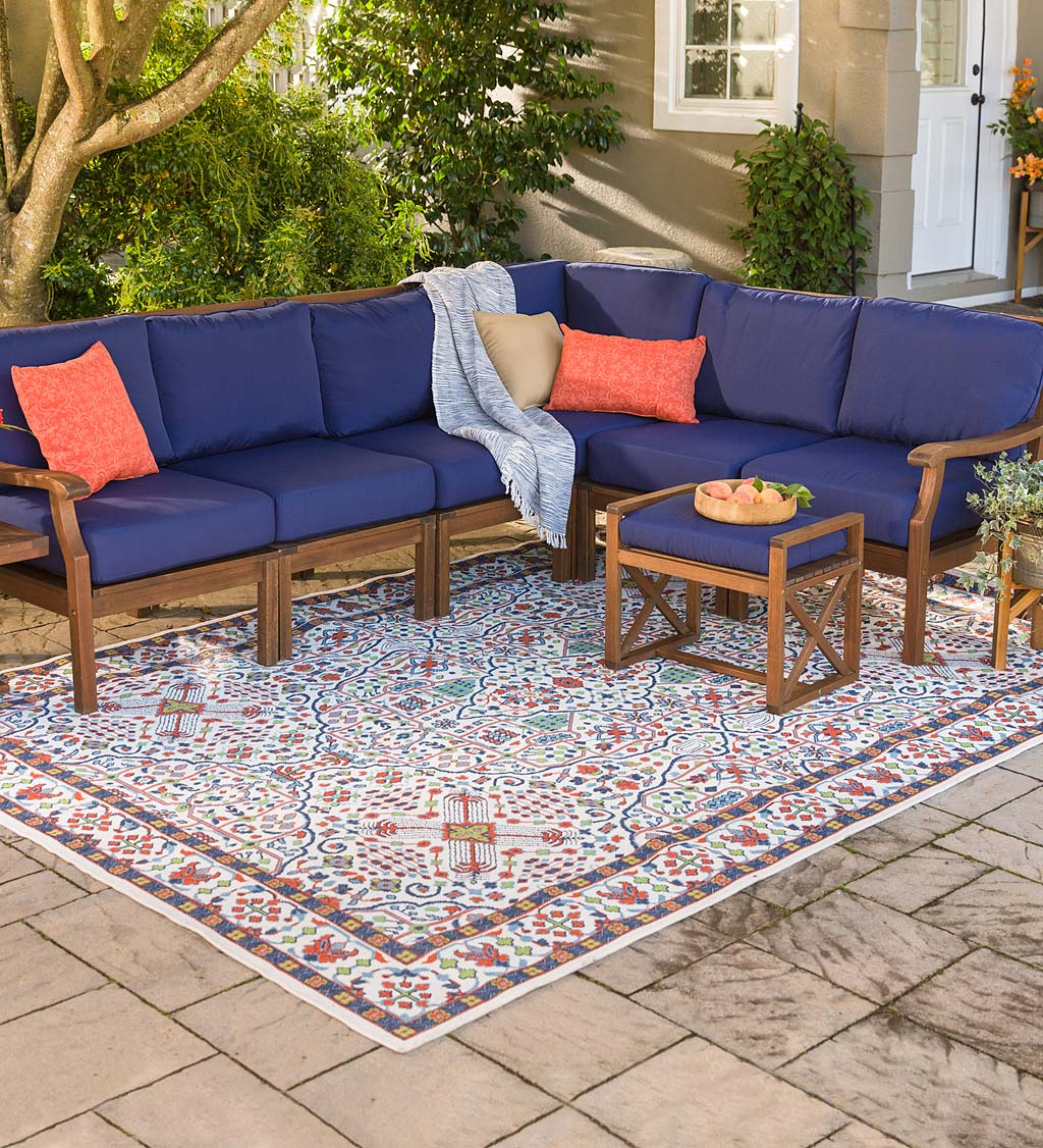 Claremont Eucalyptus Outdoor Sectional Seating with Cushions
