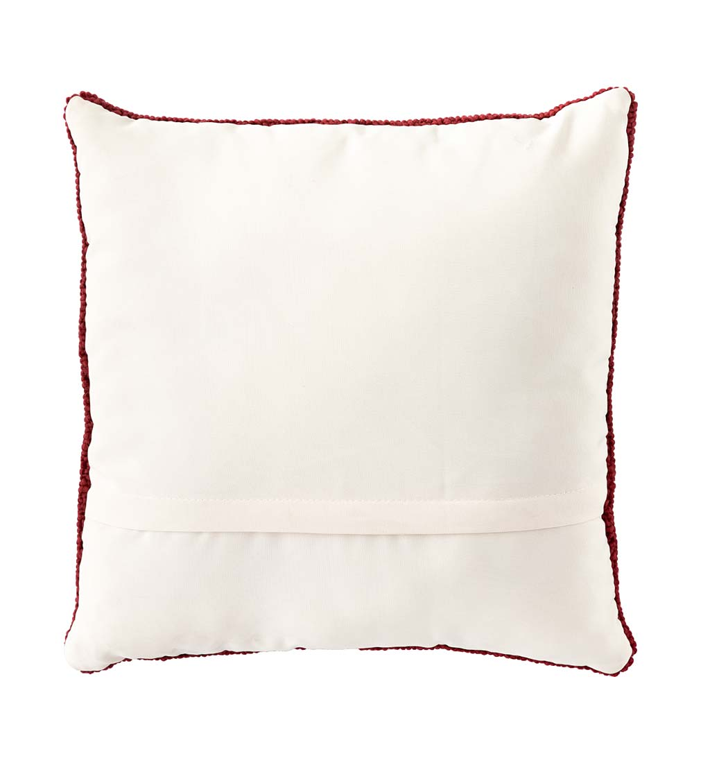 Indoor/Outdoor Summer Picnic Ant Hooked Polypropylene Throw Pillow