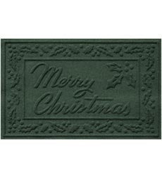 Absorbent Waterhog Snowflake Or Merry Christmas Door Mat