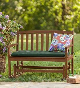 Eucalyptus Wood Love Seat Glider, Lancaster Outdoor Furniture Collection