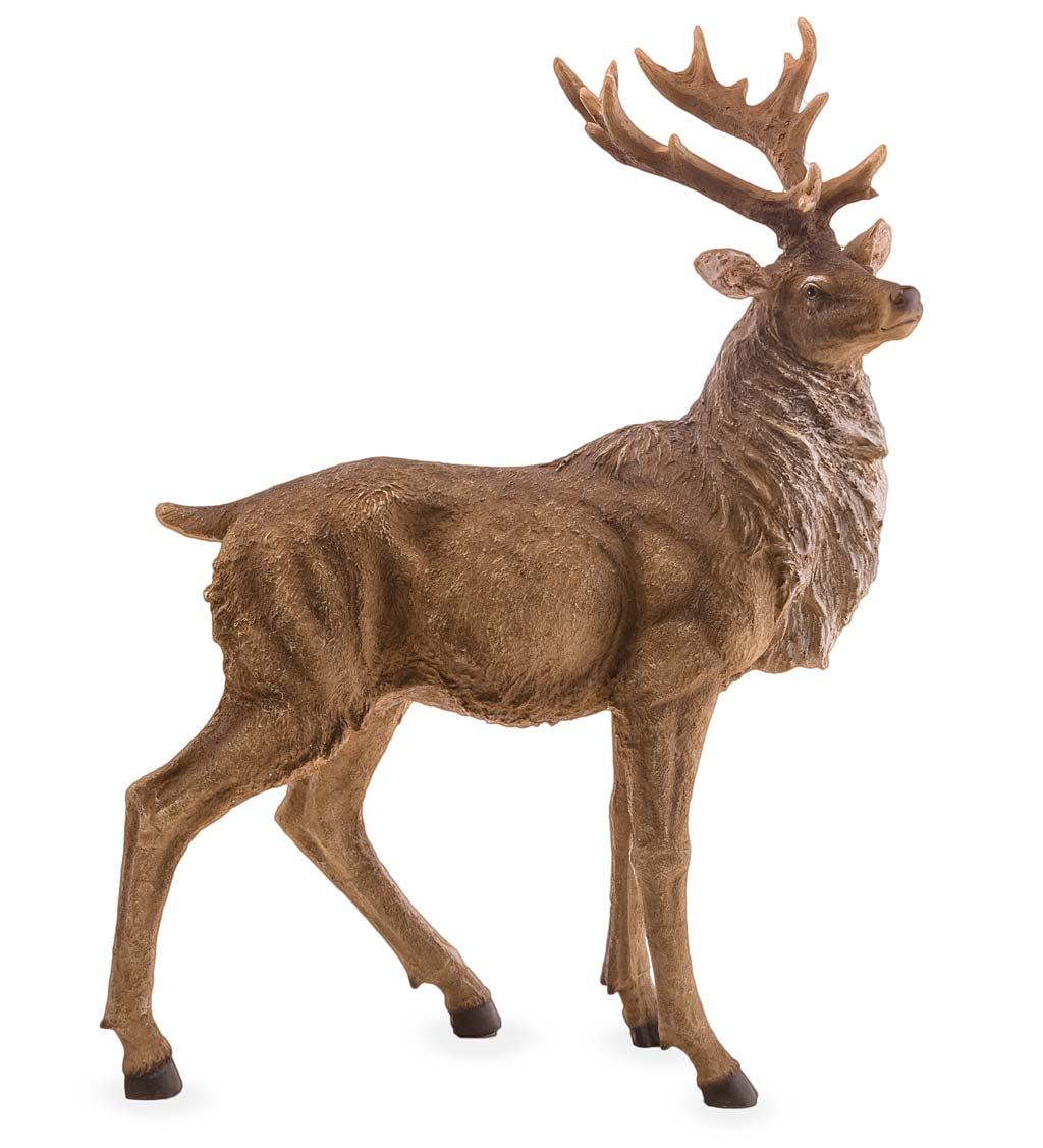 Lifelike Elk Sculptures