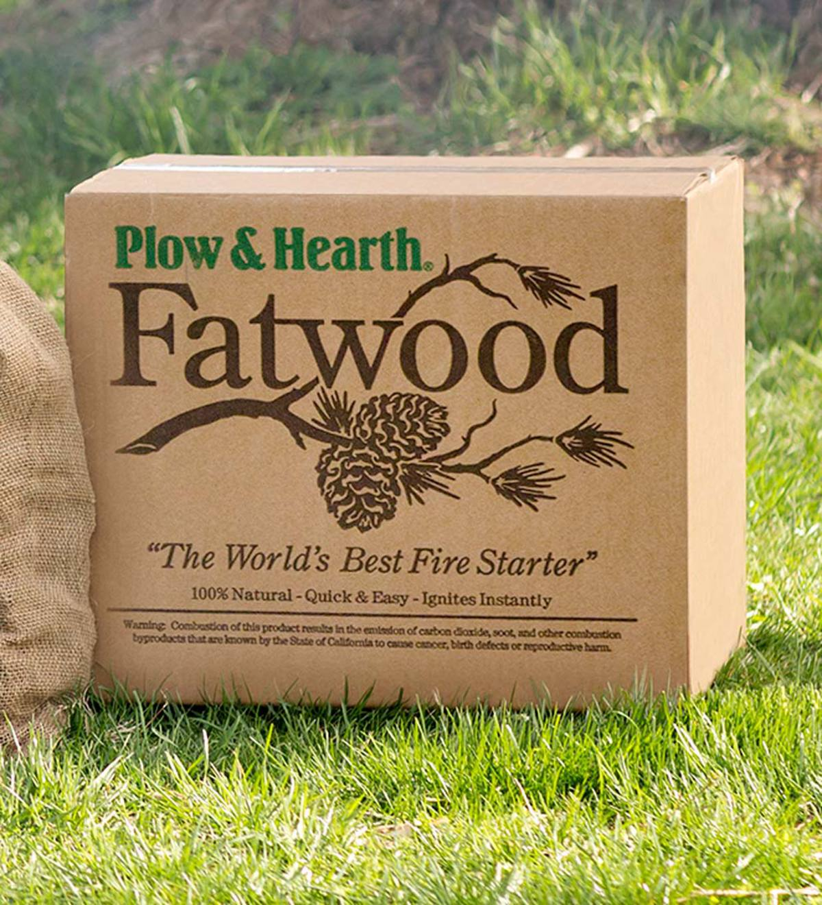 Fatwood Fire-Starter, 50 lb. Box