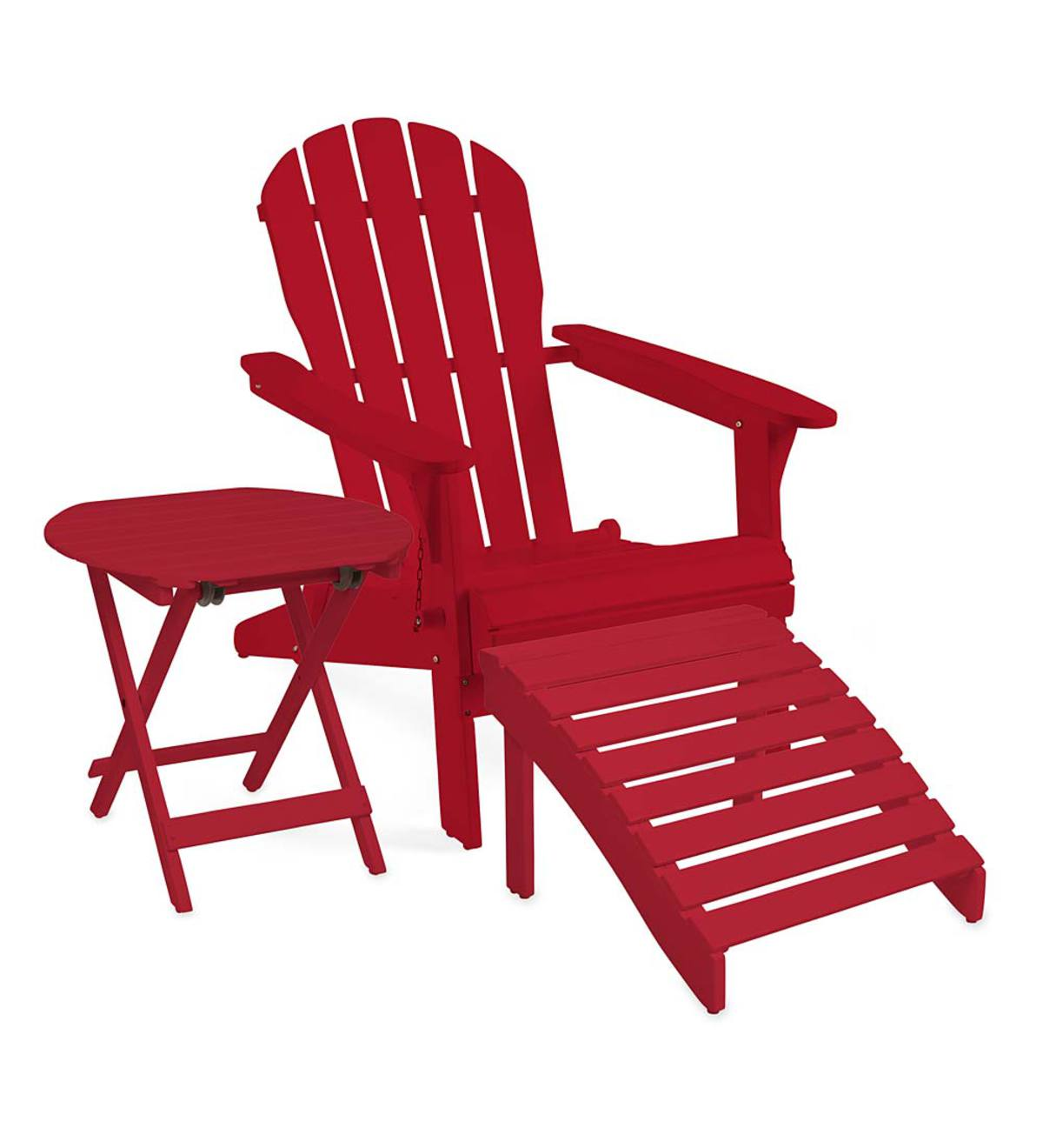 Sale! Wooden Adirondack Outdoor Furniture   Outdoor Living ... on Outdoor Living Sale id=17875