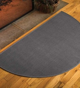 Flame-Resistant Fiberglass Half-Round Hearth Rug