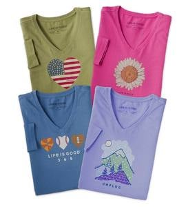 Life Is Good Women's Long Sleeve Crusher Vee