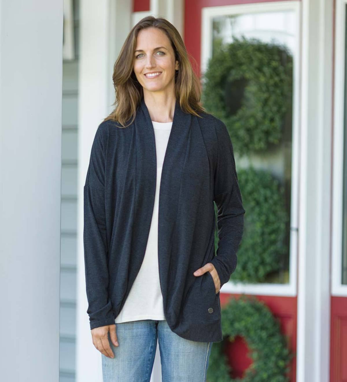 Life Is Good Women's Fly Away Cardigan - Black - L(12-14)