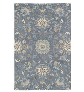 Graphite Meadow Floral Vine Wool Rug, 2' x 3'