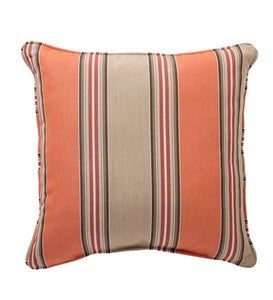 "18""sq. Sunbrella™ Deluxe Throw Pillow - Beach Stripe"