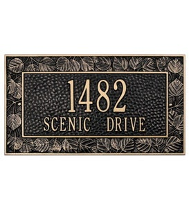 American-Made Personalized Aspen Address Plaque In Cast Aluminum - Black