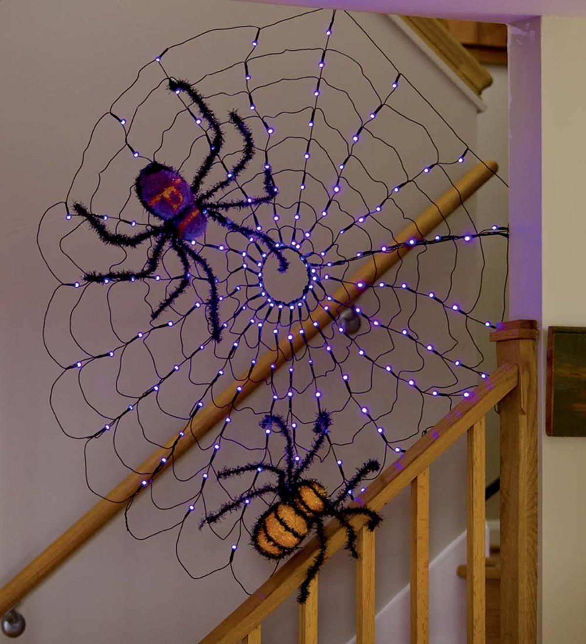 Lighted Spiderweb Decoration