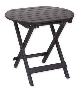 Wooden Adirondack Side Table - Black Paint