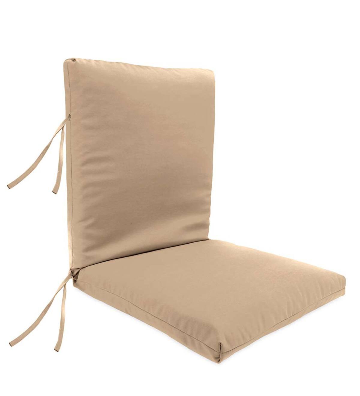 Sunbrella Classic High Back Chair Cushion With Ties 46x 20x 4