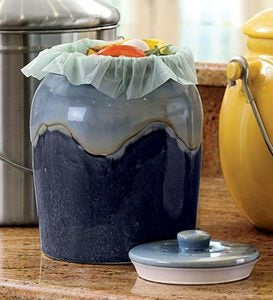 Glazed Compost Crock