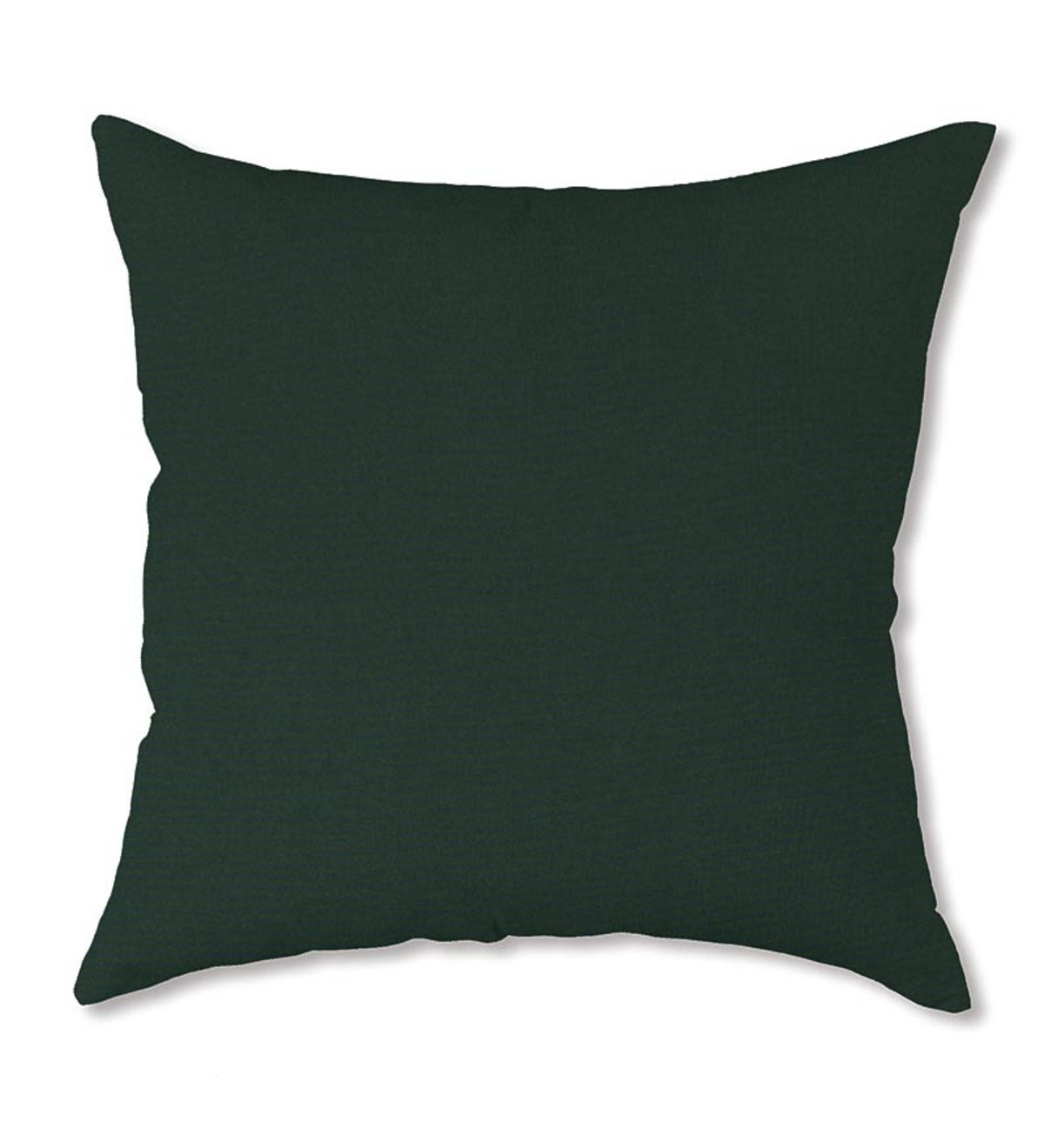 "Polyester Classic Throw Pillow, 15""sq. x 7"" - Forest Green"