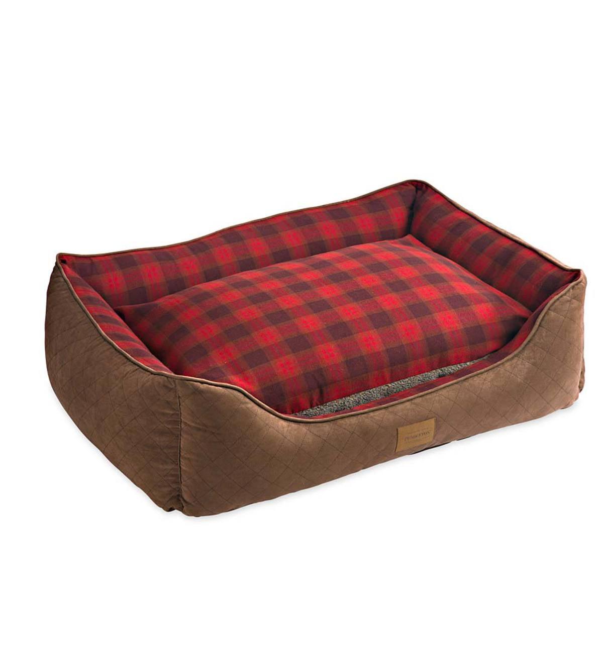 Pendleton Cuddle Dog Bed In Tartan