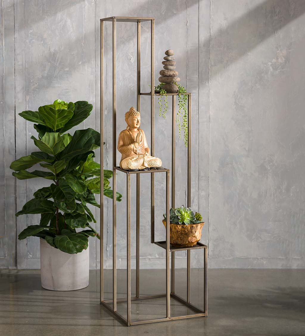 Tall Multi-Level Metal Plant Stand Display