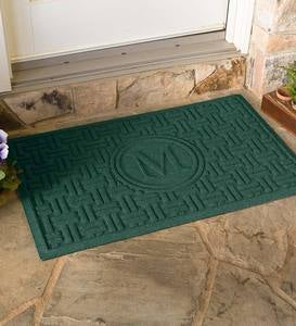 Waterhog Single Initial Basket Weave Doormat