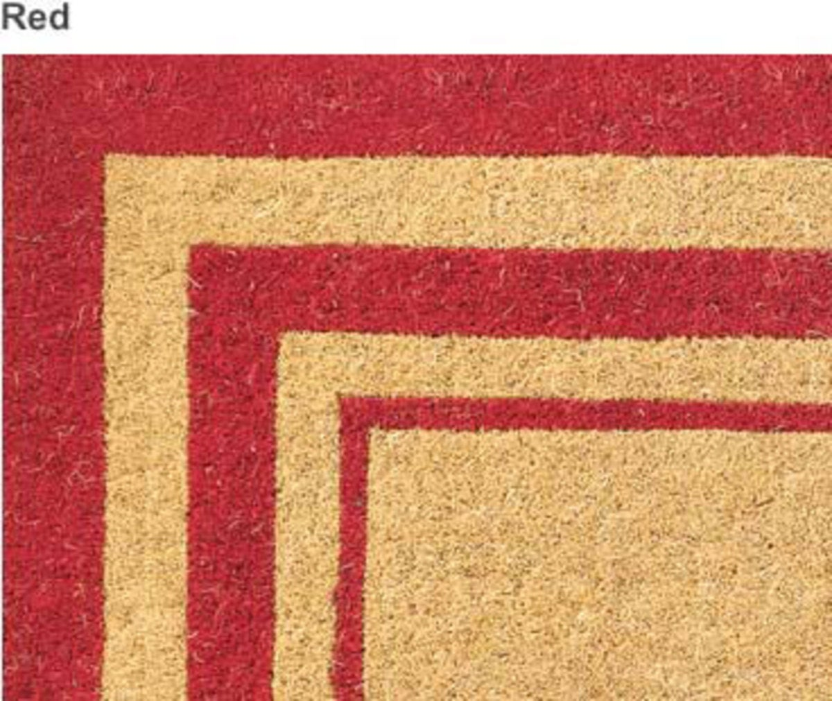 "24""x 39""Personalized Coir Mat - RED"