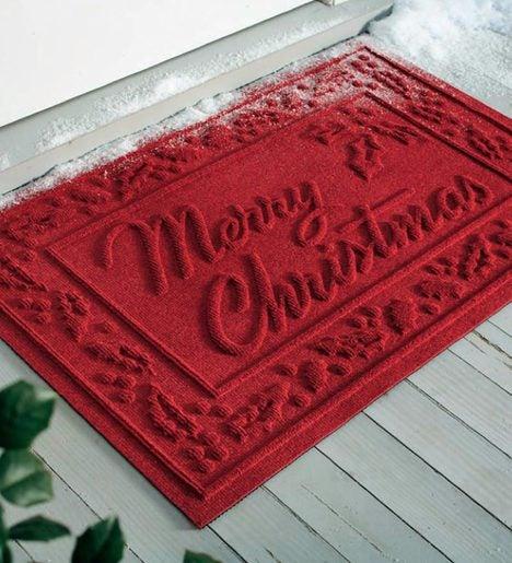 Absorbent Waterhog Snowflake Or Merry Christmas Door Mat Waterhog 174 Doormats Problemsolvers