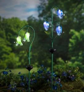 Solar Glass Flower Stake