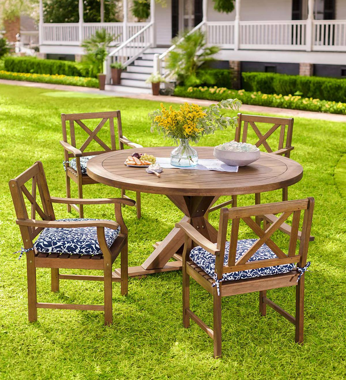Claremont Eucalyptus Round Dining Table and Chairs ...