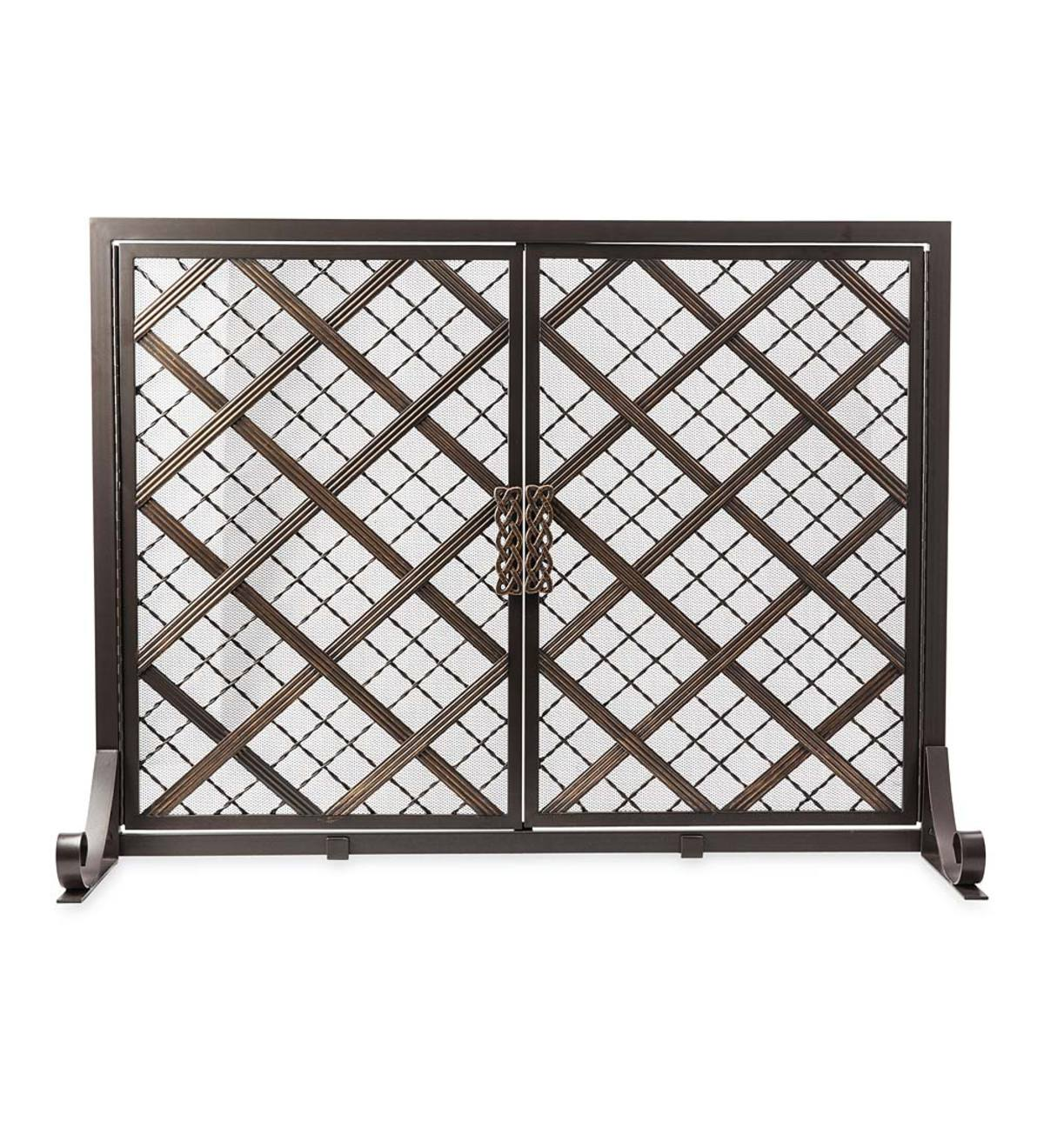 McCormick Celtic Fireplace Screen, Large - Bronze